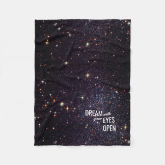 Space Stars Dreams Universe Fleece Blanket