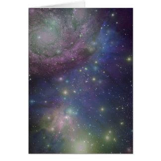 Space, stars, galaxies and nebulas card