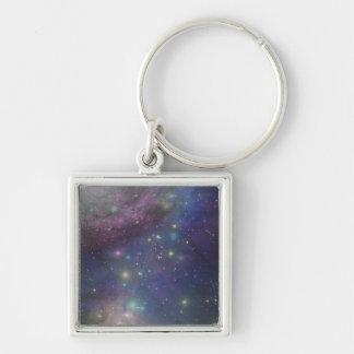Space, stars, galaxies and nebulas key ring