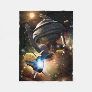 Space Station Fantasy Small Fleece Blanket