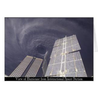 Space Station Hurricane Card