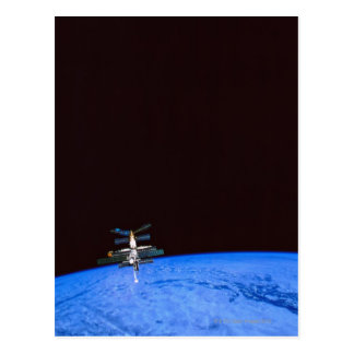 Space Station Orbiting Earth 8 Postcard