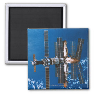 Space Station Orbiting in Space Fridge Magnet