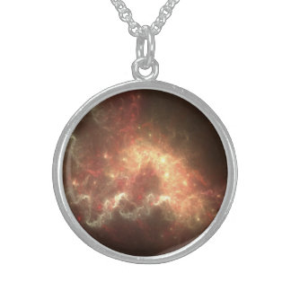 Space Sterling Silver Round Necklace