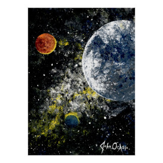SPACE THE FINAL FRONTIER ( outer space art) ~ Poster