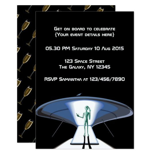 Space Themed Corporate/Adult Party customisable Card
