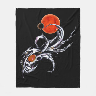 Space Themed Fleece Blanket Erbub