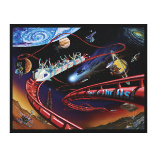 Space Thrills Roller Coaster Stretched Canvas Prints