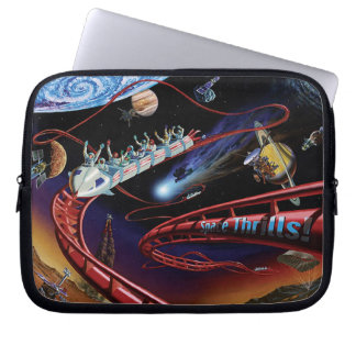 Space Thrills Roller Coaster Laptop Sleeves