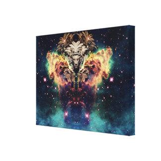 Space Throne Canvas Print
