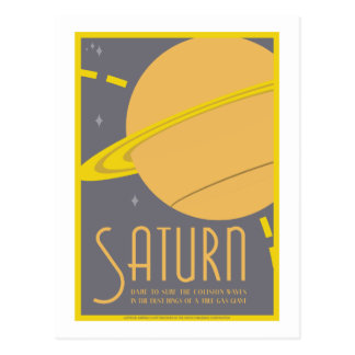 Space Travel Postcard - Saturn