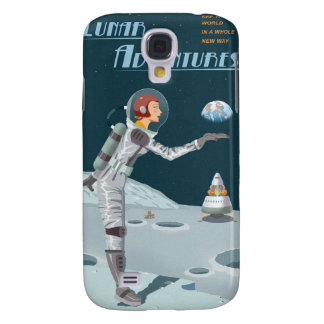 Space travel poster to the moon samsung galaxy s4 cover