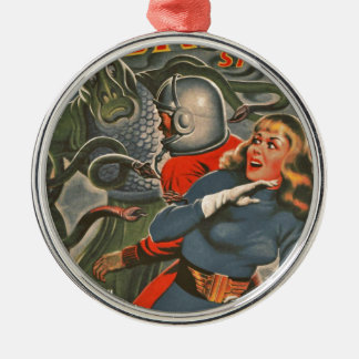 Space Travelers Attacked by Tentacle monster Metal Ornament