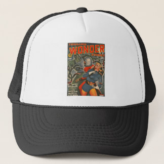 Space Travelers Attacked by Tentacle monster Trucker Hat