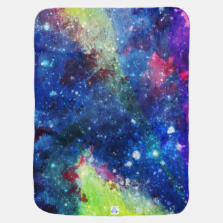 Space traveller spatial galaxy painting baby blanket