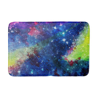 Space traveller spatial galaxy painting bath mats
