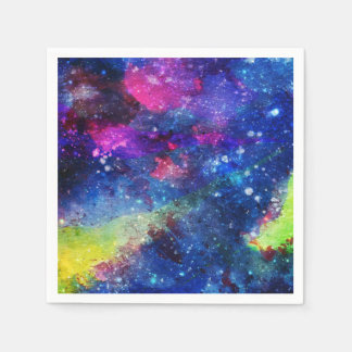 Space traveller spatial galaxy painting disposable napkin