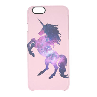 Space unicorn clear iPhone 6/6S case