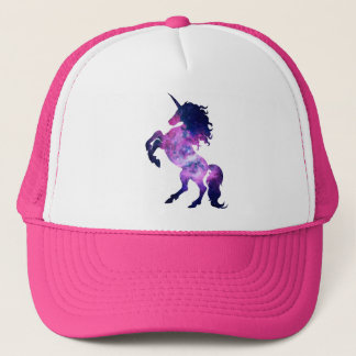 Space unicorn trucker hat