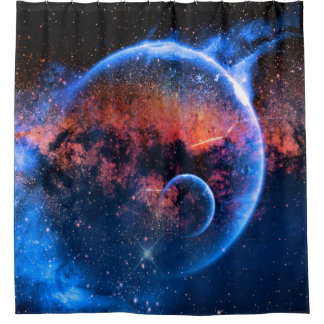 Space Walk - Galaxy Solar System Shower Curtain