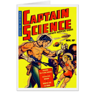 Space Warrior Vintage Science Fiction Comic Card