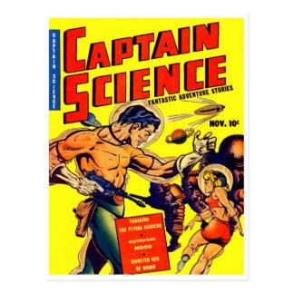 Space Warrior Vintage Science Fiction Comic Postcard