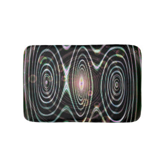 Space worlds, spirals of time bath mat