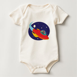 Spaceboy and Dog 2 Baby Bodysuit