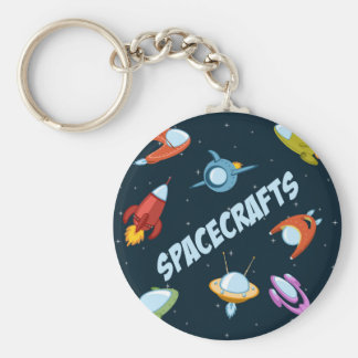 Spacecraft and rockets key ring