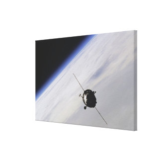 Spacecraft in outer space canvas prints