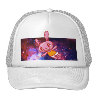 Spaced Out Bunny Rabbit Galaxy Trucker Hat