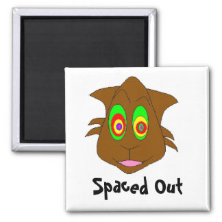 , Spaced Out Square Magnet