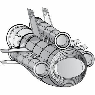 SpaceFleet Technical Illustration Standing Photo Sculpture