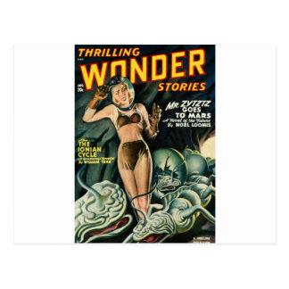 Spacegirl Fights Slime Monsters Postcard