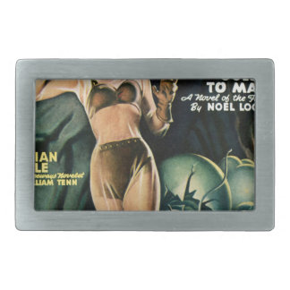 Spacegirl Fights Slime Monsters Rectangular Belt Buckles
