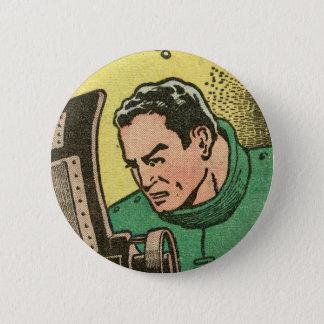Spacehawk by Basil Wolverton 6 Cm Round Badge