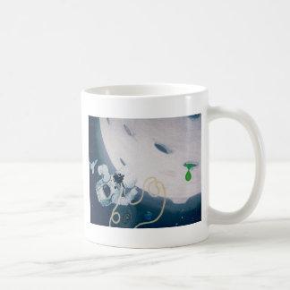 Spaceman and Moon Coffee Mug