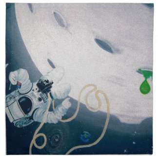 Spaceman and Moon Napkin
