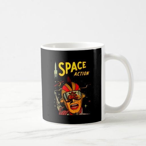 Spaceman Sci-Fi Astronaut Comic Art Mug
