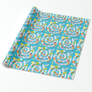 "Spaceman vs. Alien Glossy Wrapping Paper, 30"" x 15 Wrapping Paper"