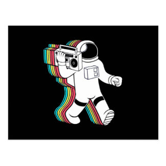 Spaceman With Boombox Postcard