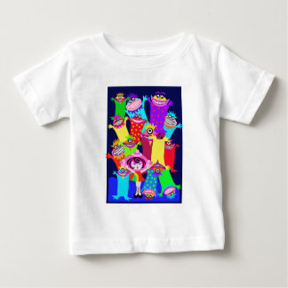 spaceship Betty and the Magical Monsters Baby T-Shirt