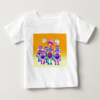 Spaceship Betty  March of the Robots Baby T-Shirt