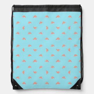 Spaceship Cartoon Pattern Drawing Drawstring Bag
