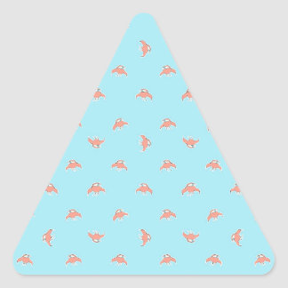 Spaceship Cartoon Pattern Drawing Triangle Sticker