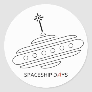 SPACESHIP DAYS Sticker