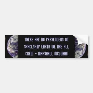 spaceship earth bumper sticker