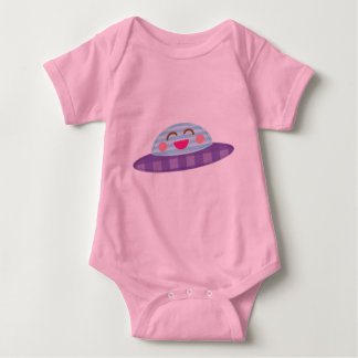 Spaceship Flying Saucer Kawaii Baby Bodysuit