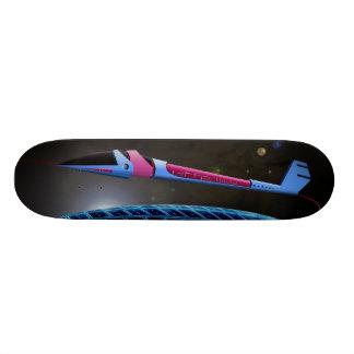 Spaceship in the space custom skate board