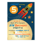 Spaceship, Planets, and Stars Birthday Card